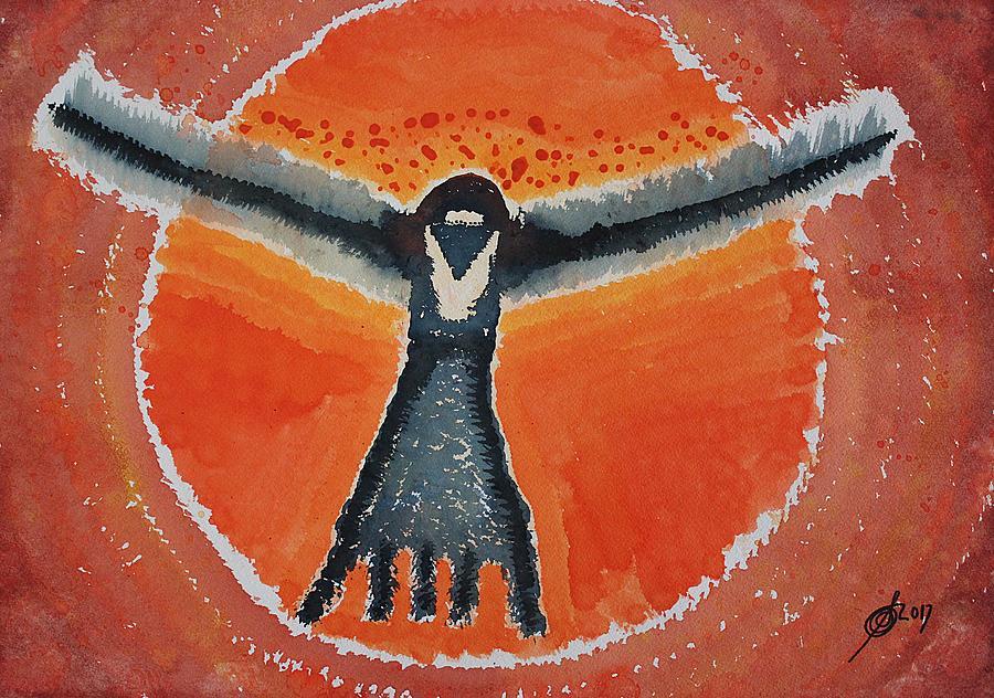 Bluebird Shaman Original Painting Painting