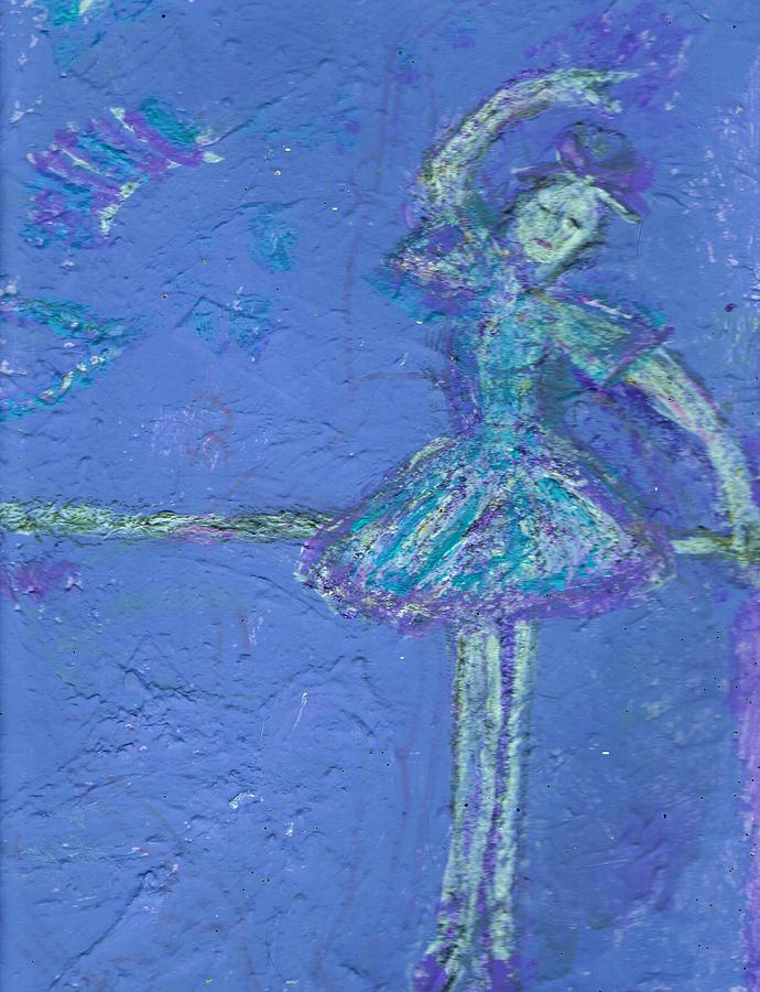 Practicing Mixed Media - Bluedream by Anne-Elizabeth Whiteway