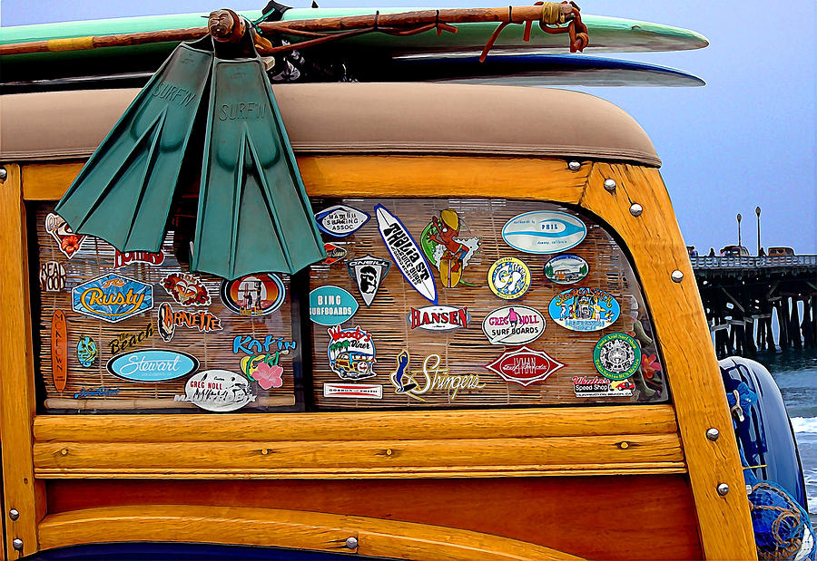 Decals Photograph - Boards And Woodie by Ron Regalado