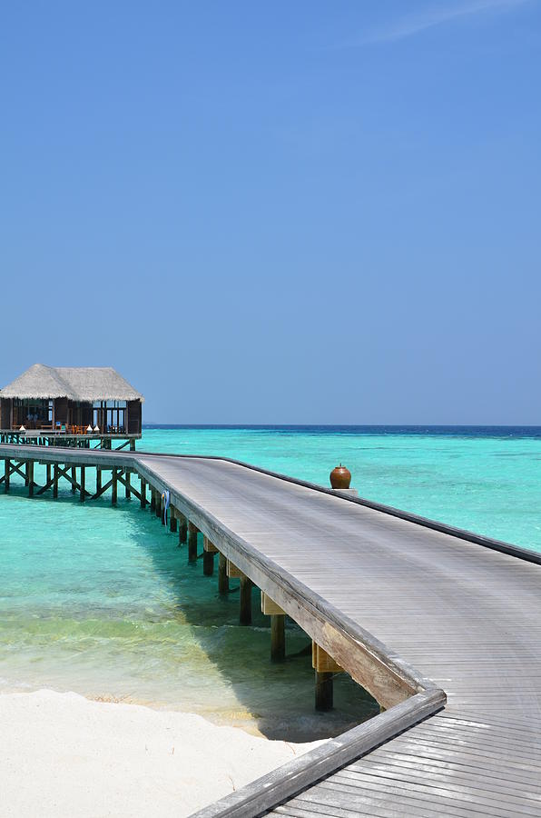 Maldives Photograph - Boardwalk In Paradise by Corinne Rhode