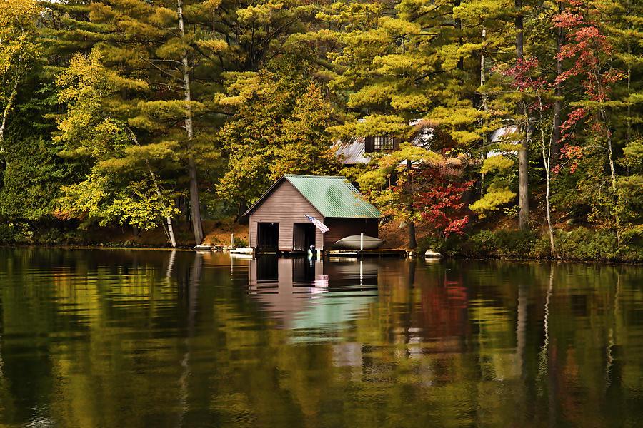 Adirondacks Photograph - Boat House by David Simons