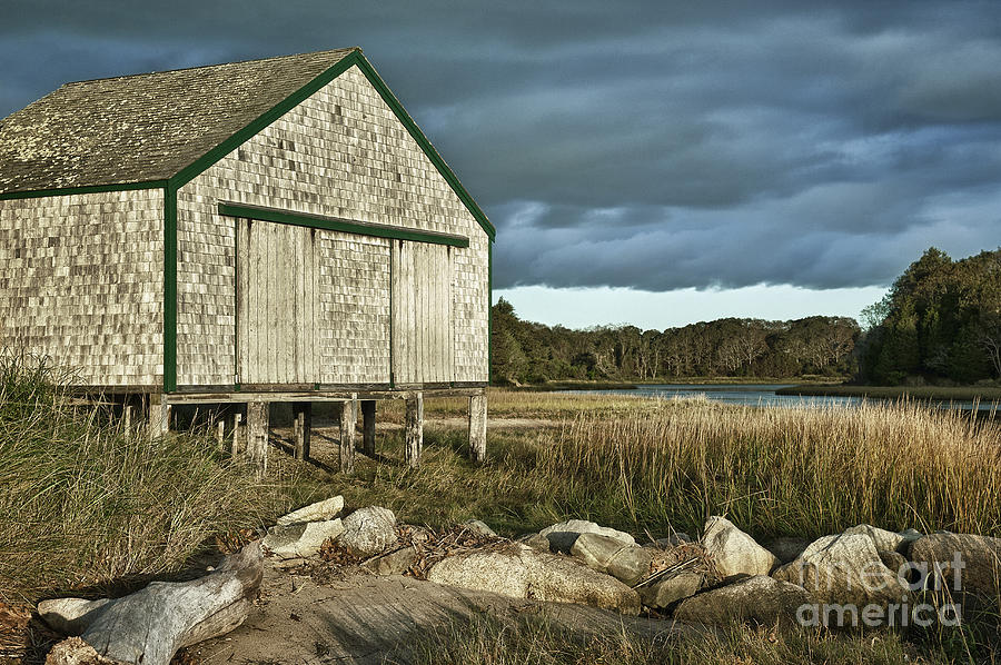 Cape Cod Photograph - Boathouse by John Greim