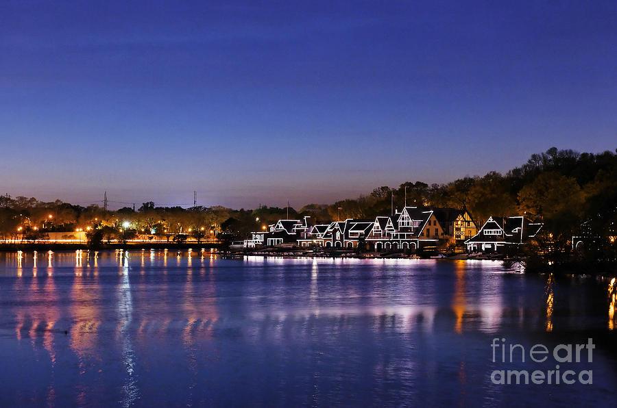 Philadelphia Photograph - Boathouse Row Philly by John Greim