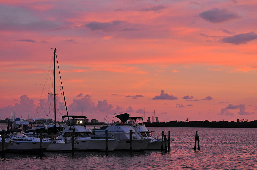 Sunset Photograph - Boats At Sunset by Rose  Hill