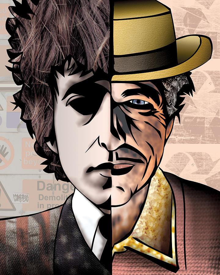 Bob Dylan - Man Vs. Myth Drawing
