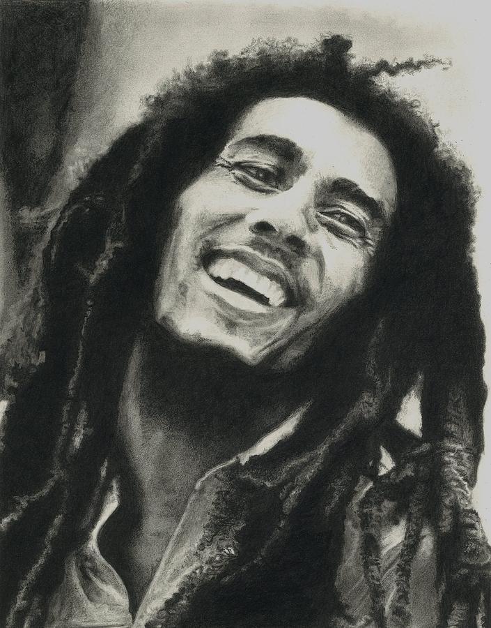 Drawing Drawing - Bob Marley by Dan Lamperd