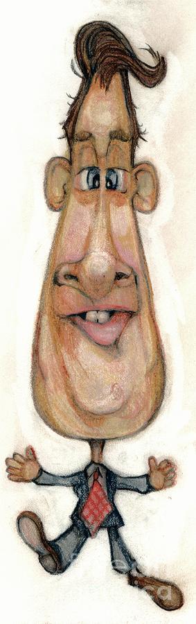 Man Drawing - Bobblehead No 32 by Edward Ruth