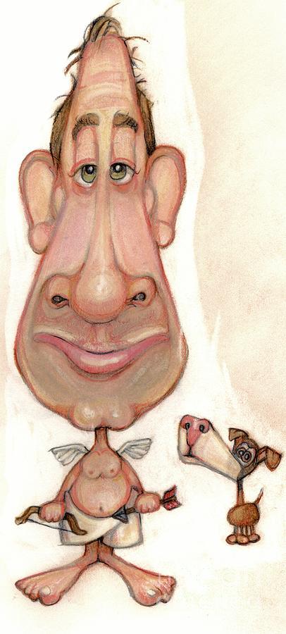 Man Drawing - Bobblehead No 57 by Edward Ruth