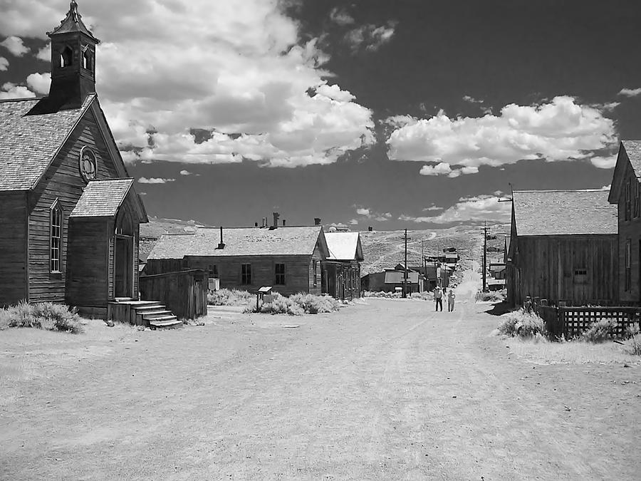Bodie A Ghost Town Infrared Photograph