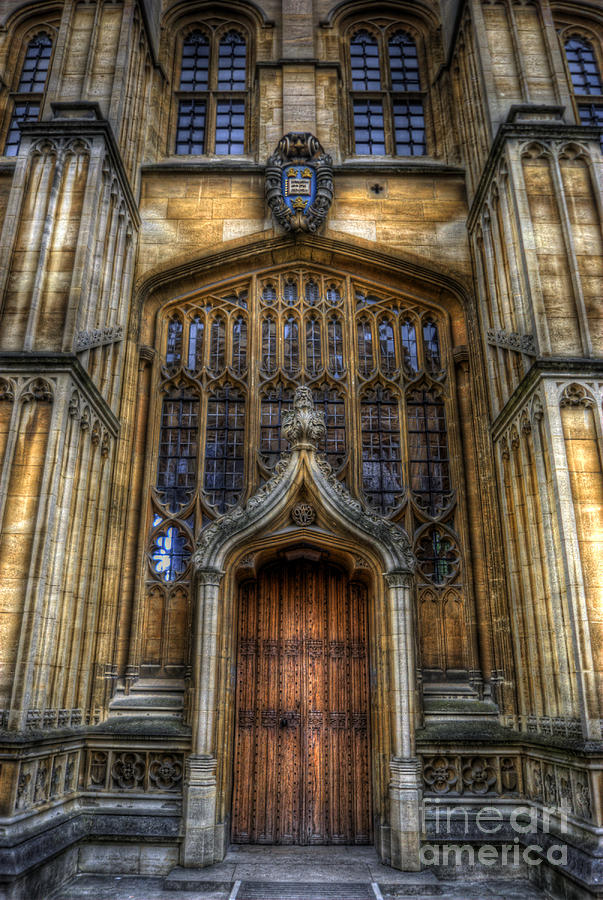 Yhun Suarez Photograph - Bodleian Library Door - Oxford by Yhun Suarez