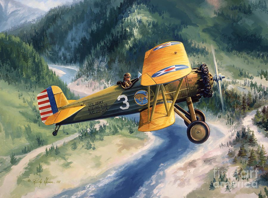 Aviation Art Painting - Boeing Country by Randy Green