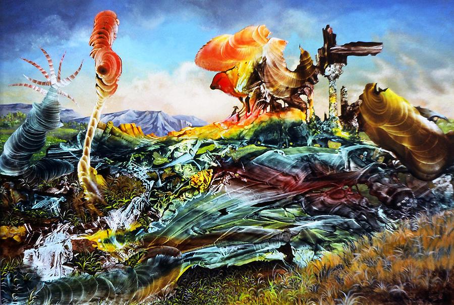Landscape Painting - Bogomil Landscape by Otto Rapp