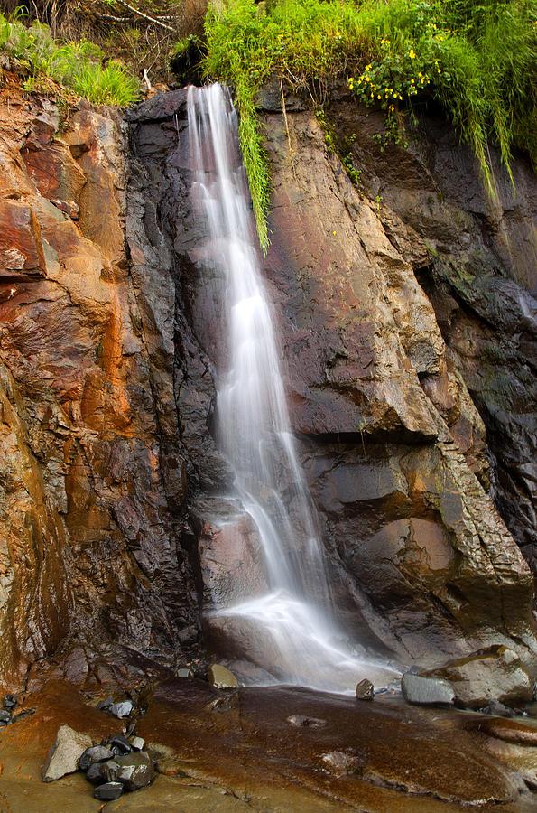 Cascade Photograph - Boiler Bay Cascade by Mike  Dawson