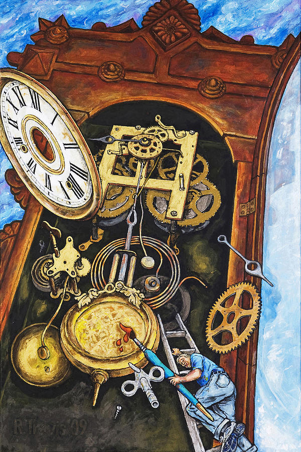 Clock Painting - Boing by Rich Travis