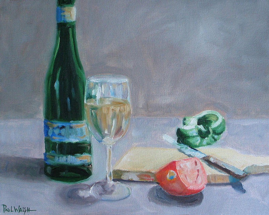 Wine Painting - Bon Appetite by Paul Walsh