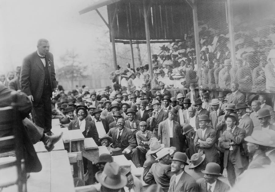 History Photograph - Booker T. Washington Addressing by Everett
