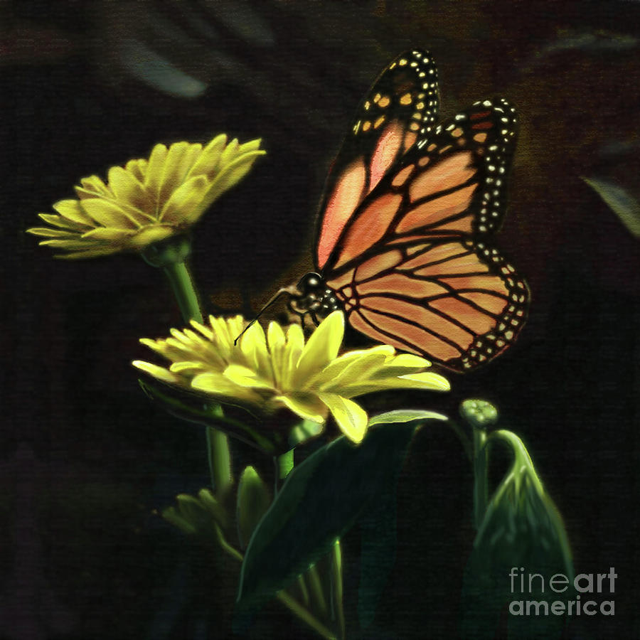 Butterfly Painting - Born Again by Larry Cole