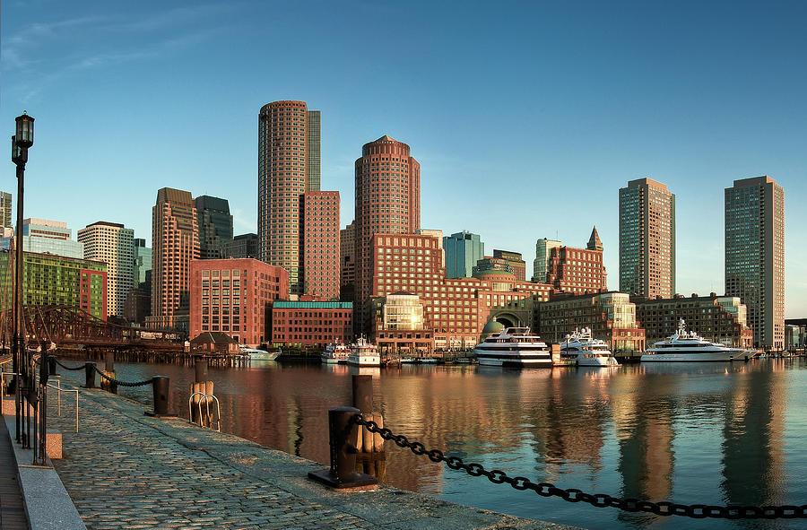 Horizontal Photograph - Boston Morning Skyline by Sebastian Schlueter (sibbiblue)