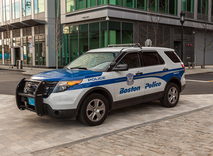 Case Design utility phone case : Boston Police Car is a photograph by Brian MacLean which was uploaded ...