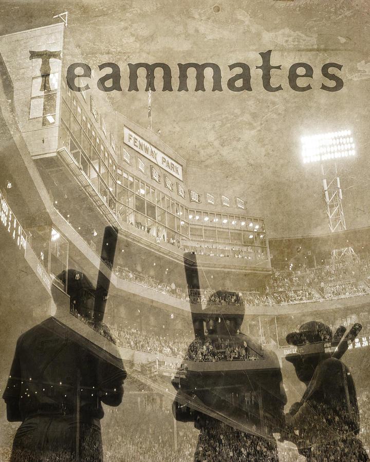 Vintage Boston Red Sox Fenway Park Teammates Statue