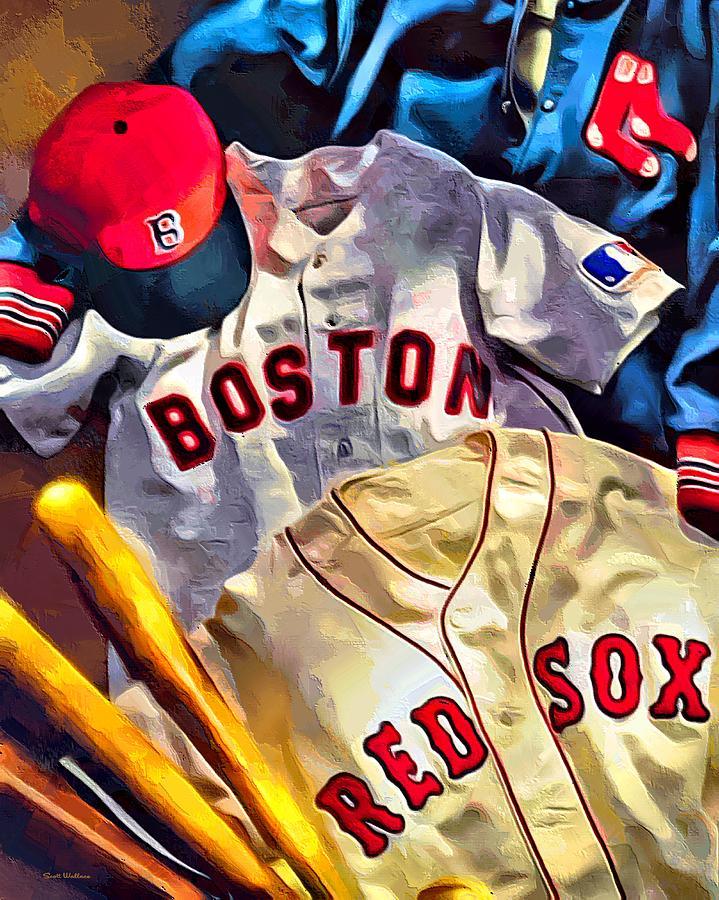 Boston Red Sox Digital Art By Scott Wallace