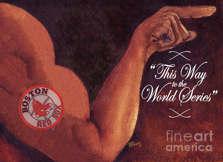 Painting - Boston Red Sox. This Way To The World Series by Jean-Marie Poisson