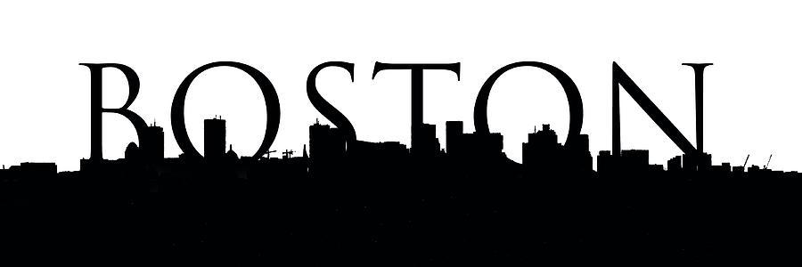 boston skyline outline