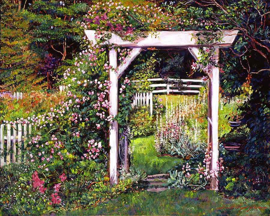 Gardens Painting - Botanical Paradise by David Lloyd Glover