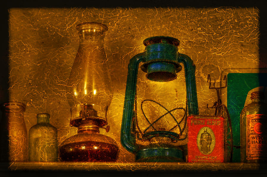 Bottle Photograph - Bottles And Lamps by Evelina Kremsdorf