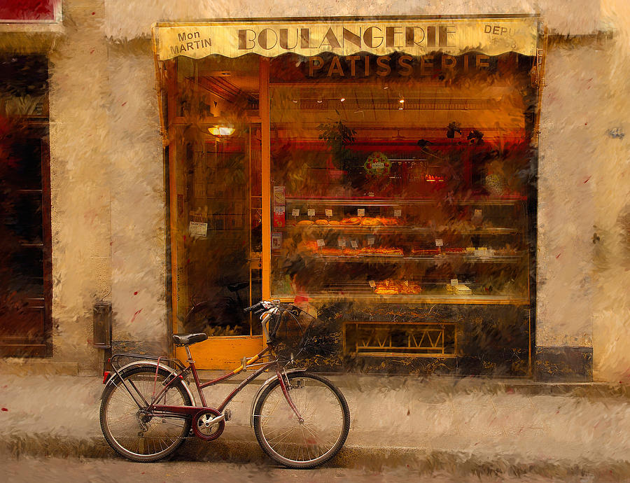 Boulangerie And Bike 2 Photograph