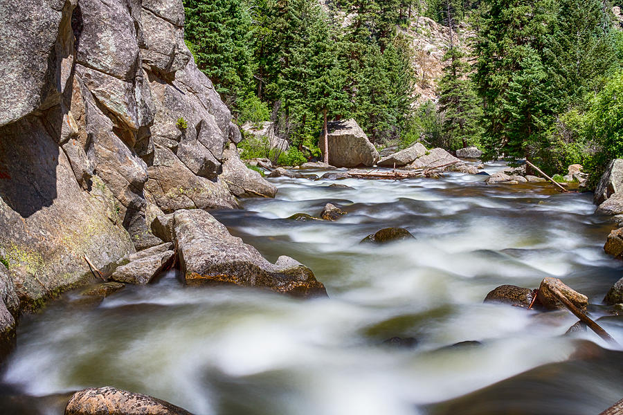 Boulder Canyon - Boulder Creek - Colorado Photograph