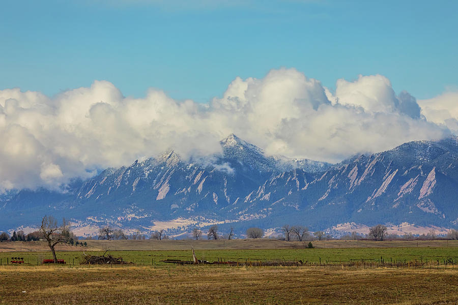 Boulder Colorado Front Range Cloud Pile On Photograph