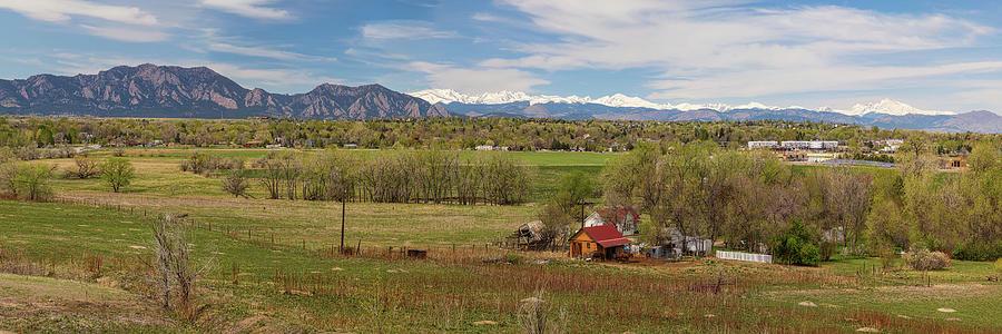 Boulder Louisville Lafayette Colorado Front Range Panorama Photograph