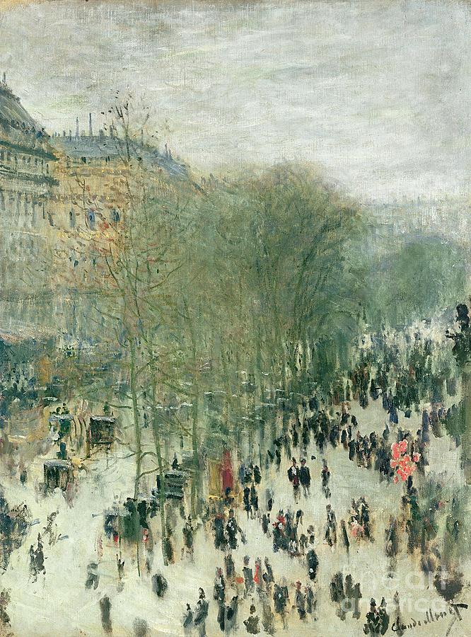 Boulevard Painting - Boulevard Des Capucines by Claude Monet