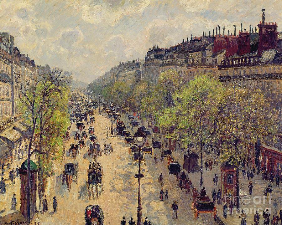 Pissarro Painting - Boulevard Montmartre by Camille Pissarro