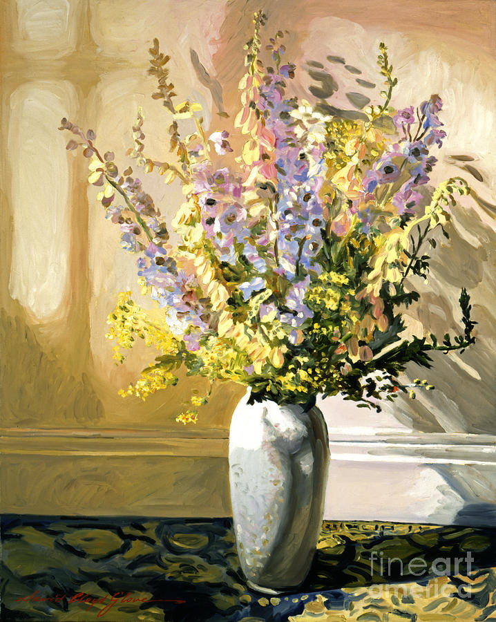 Flowers Painting - Bouquet Impressions by David Lloyd Glover