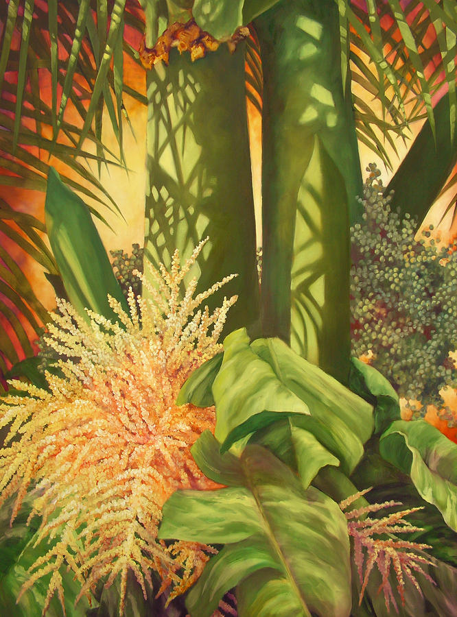 Palm Tree Painting - Bouquet Of Palm by Monica Linville