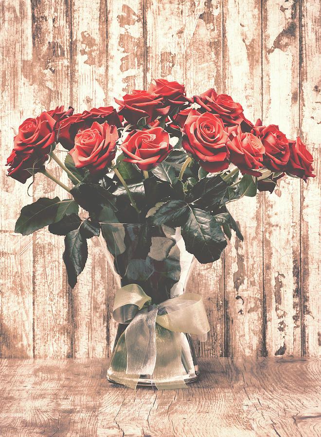 Bouquet Photograph - Bouquet Roses by Wim Lanclus
