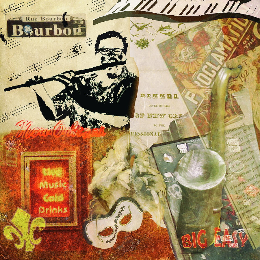 Bourbon Street Collage Digital Art