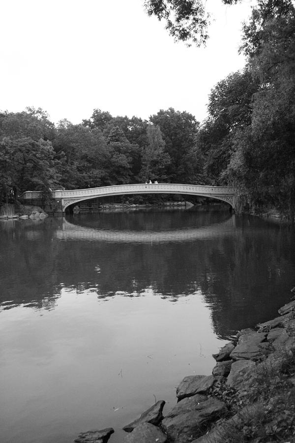 Bow Bridge Photograph - Bow Bridge And The Lake by Christopher Kirby