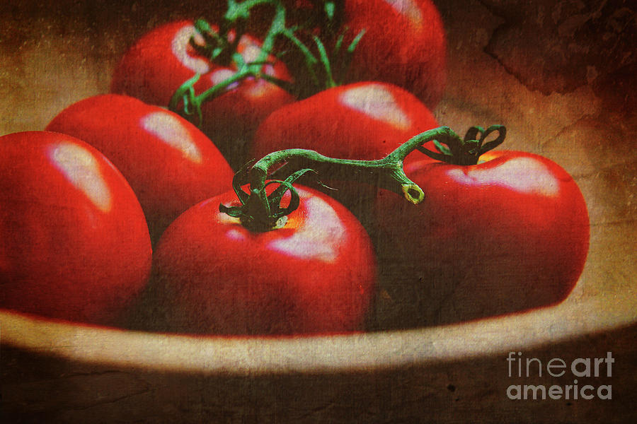 Tomatoes Photograph - Bowl Of Tomatoes by Toni Hopper
