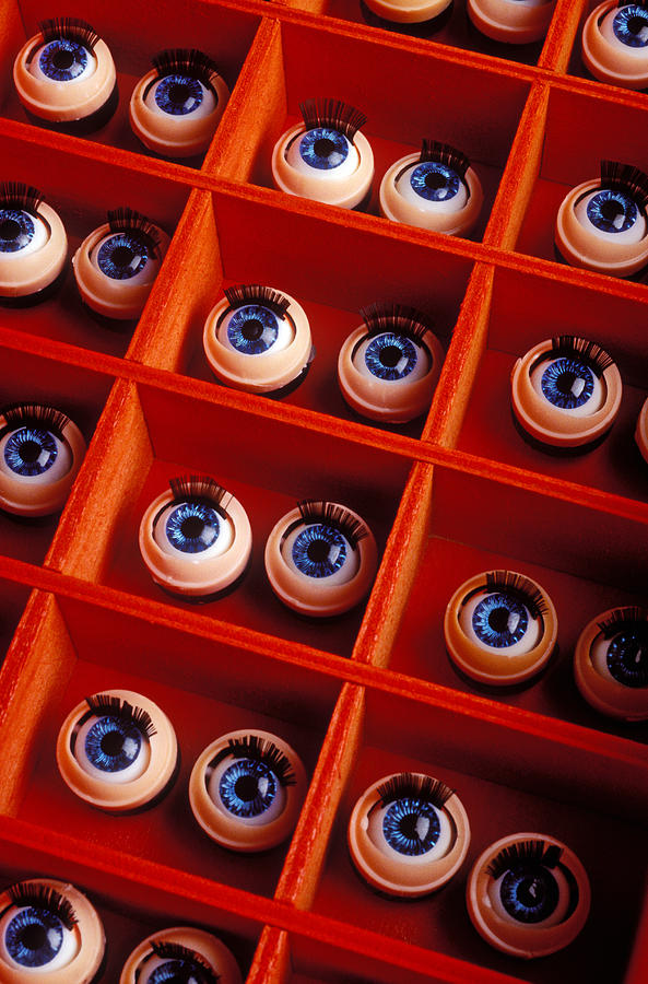 Box Photograph - Box Full Of Doll Eyes by Garry Gay