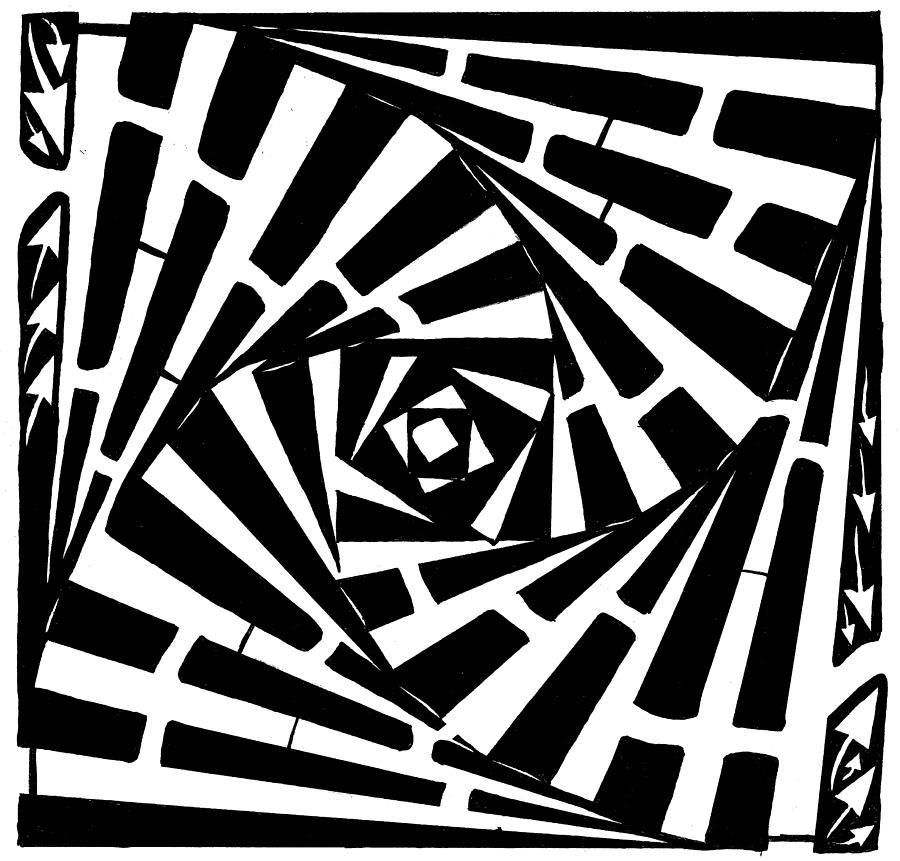 Box Drawing - Box In A Box Maze by Yonatan Frimer Maze Artist