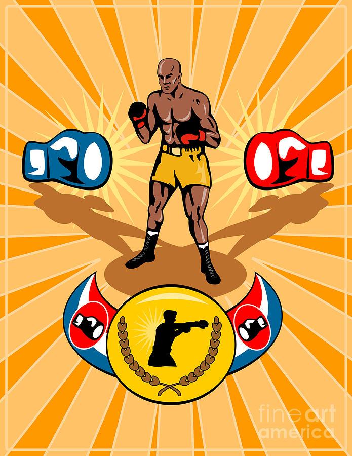 Boxer Digital Art - Boxer Boxing Poster by Aloysius Patrimonio