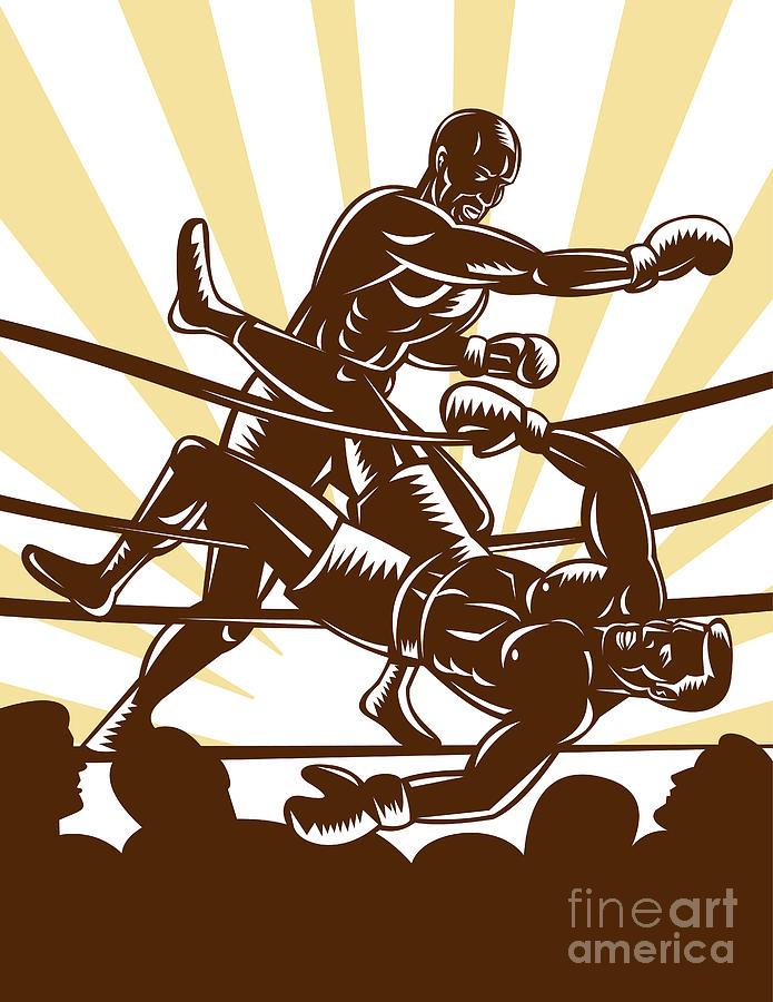 Boxing Digital Art - Boxer Knocking Out by Aloysius Patrimonio