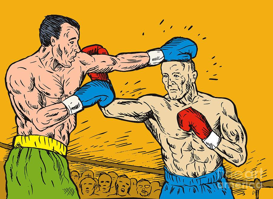 Boxing Digital Art - Boxer Punching by Aloysius Patrimonio