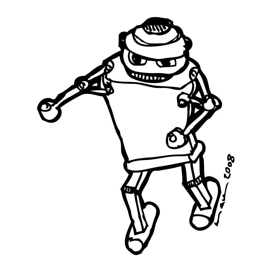 Boxing Robot Drawing