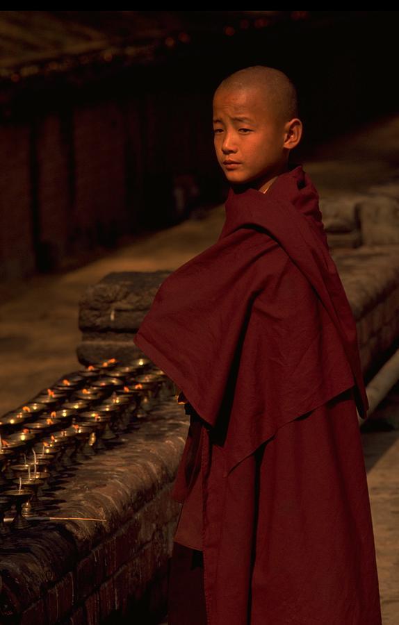 Boy Buddhist In Bodh Gaya Photograph