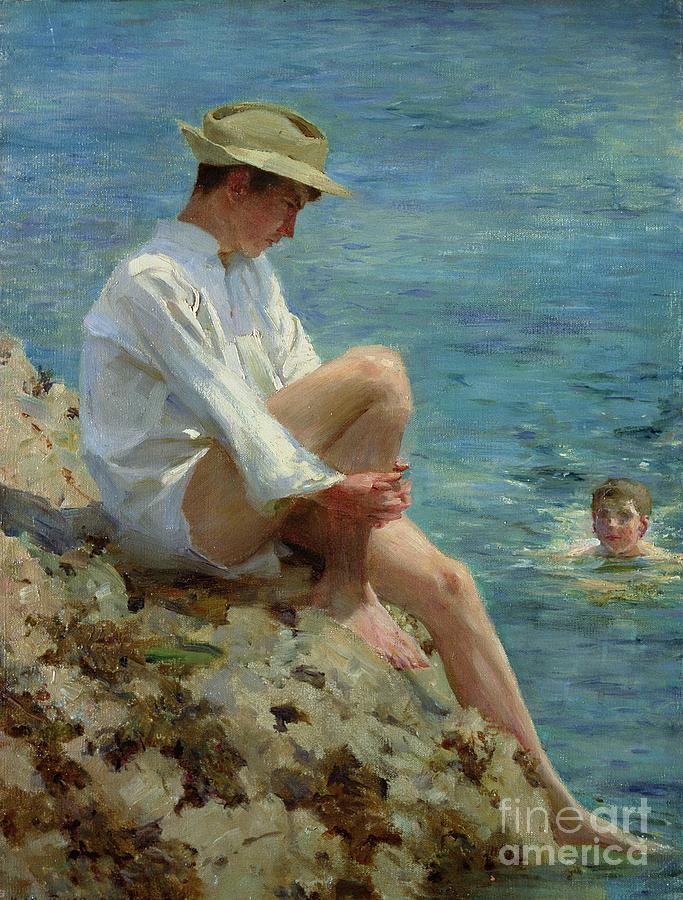 Boys Bathing Painting
