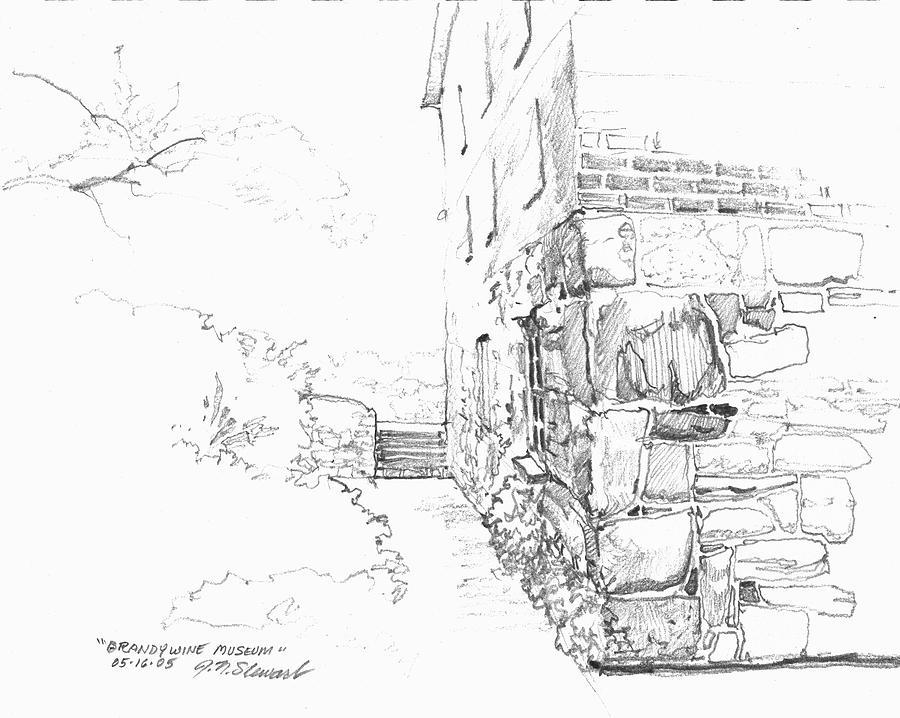 Drawing Drawing - Brandywine Path by John Norman Stewart